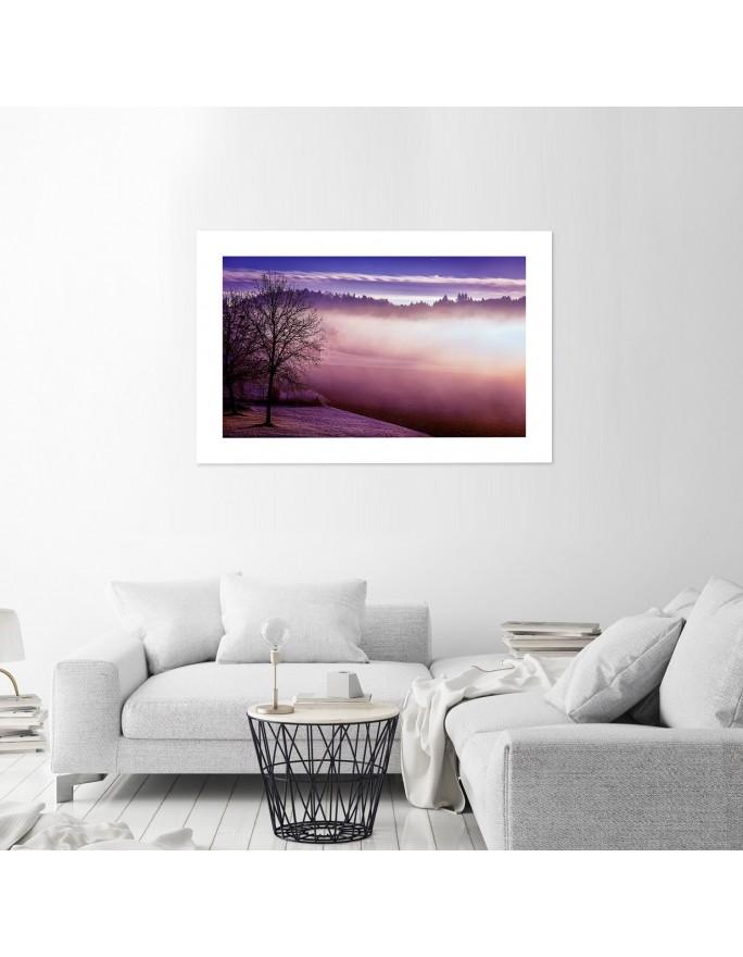 Wianek z jodły, Parawan pokojowy jednostronny na płótnie - Canvas