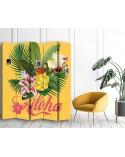 Flamingi, Parawan pokojowy na płótnie - Canvas