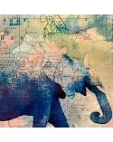 Alfabet z ZOO, Parawan pokojowy na płótnie - Canvas