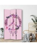 Kwiaty, Parawan pokojowy na płótnie - Canvas