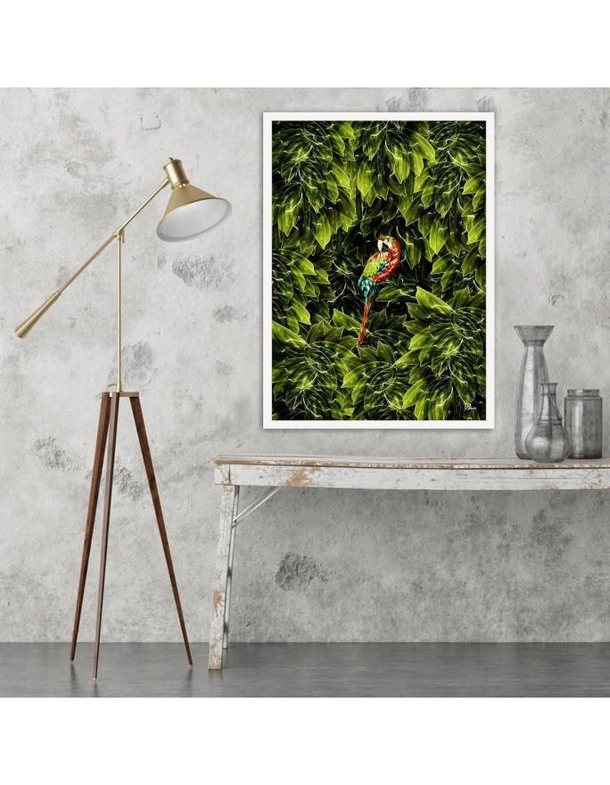 Zielone bale nocą, Parawan pokojowy na płótnie - Canvas