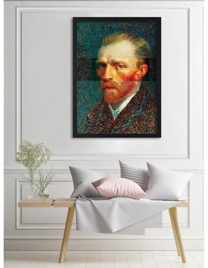 Reprodukcja obrazu V. van Gogha – Wieśniaczka tnąca słomę (wg Milleta), Deco Panel