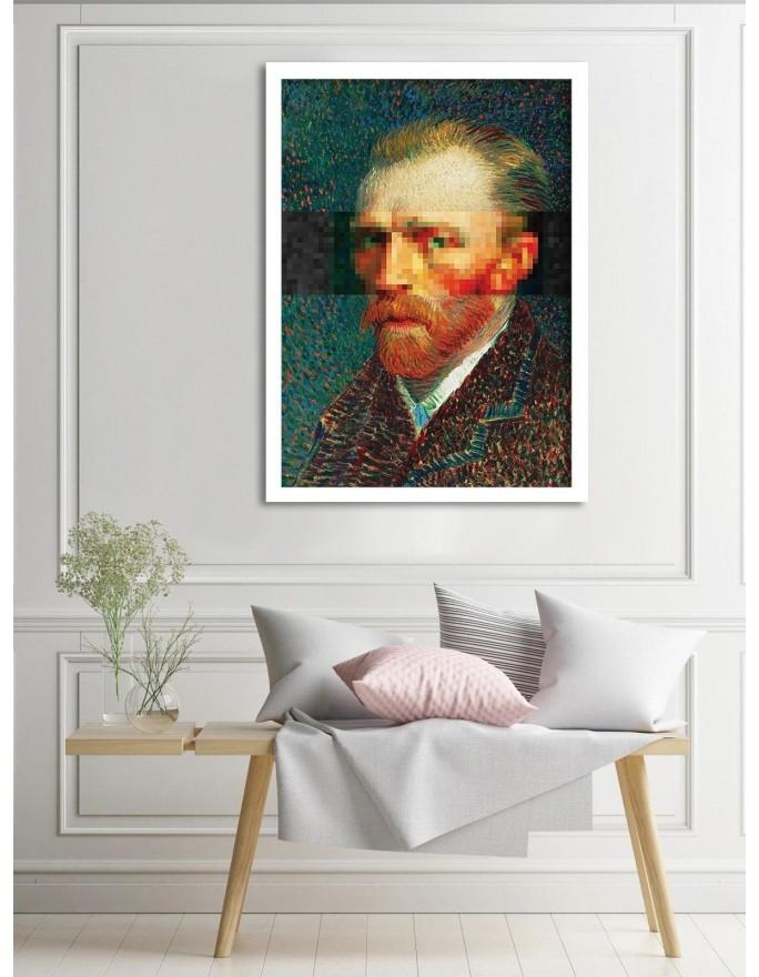 Reprodukcja obrazu V. van Gogha – Portret 'ojca' Tanguy, Deco Panel