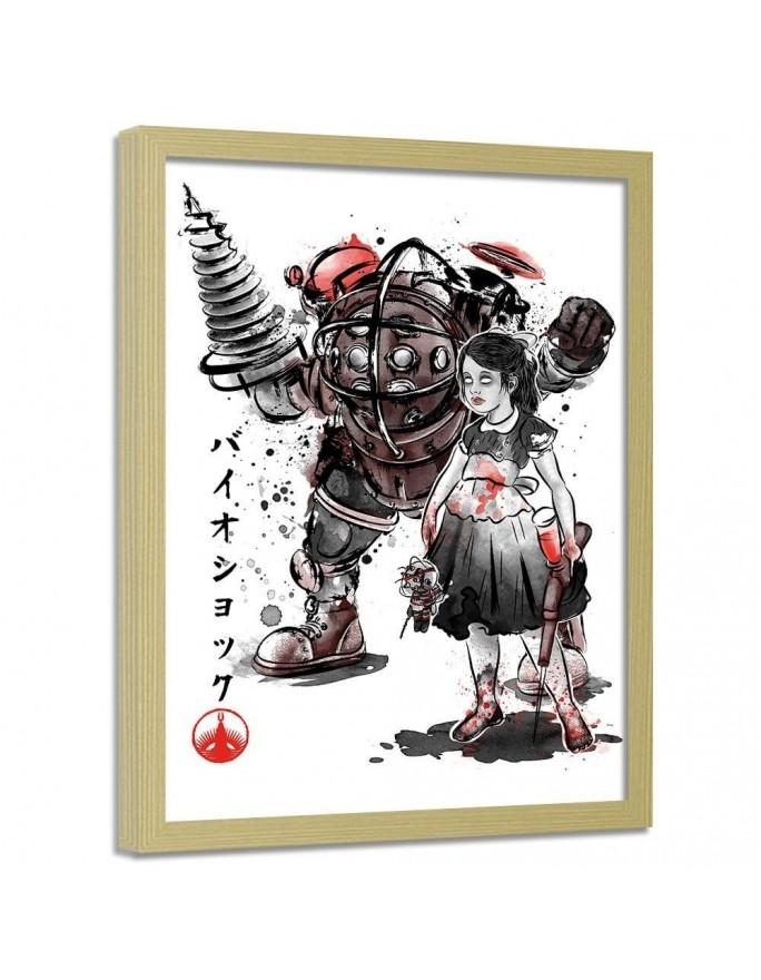 Japońskie znaki, Parawan pokojowy na płótnie - Canvas