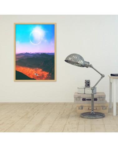 Abstrakcja 56, Obraz na płótnie - panorama Canvas
