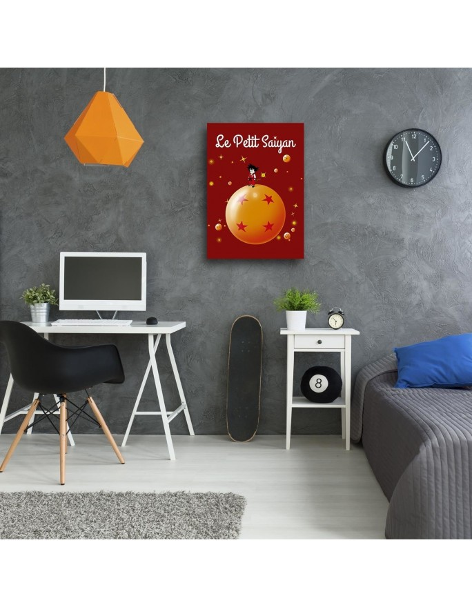 Trzy rude drzewa, Obraz na płótnie - Canvas