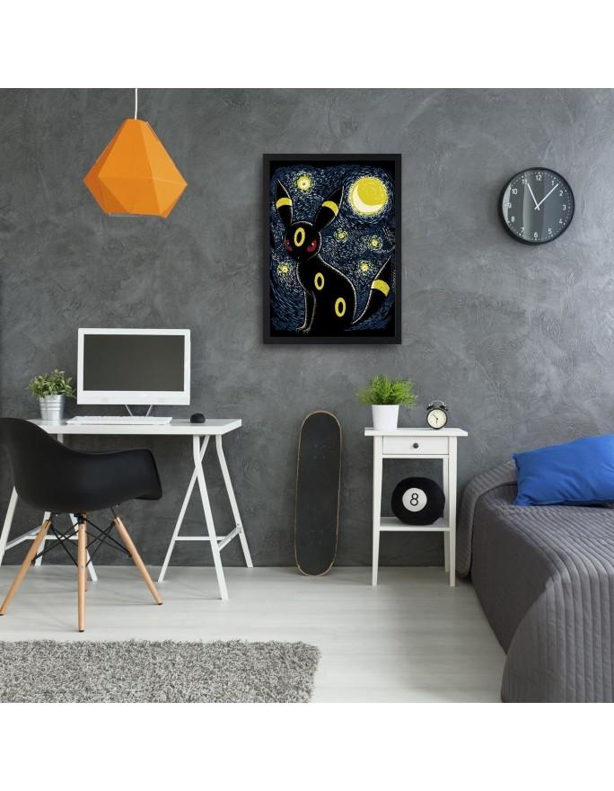 Malowana zebra, Obraz na płótnie - Canvas