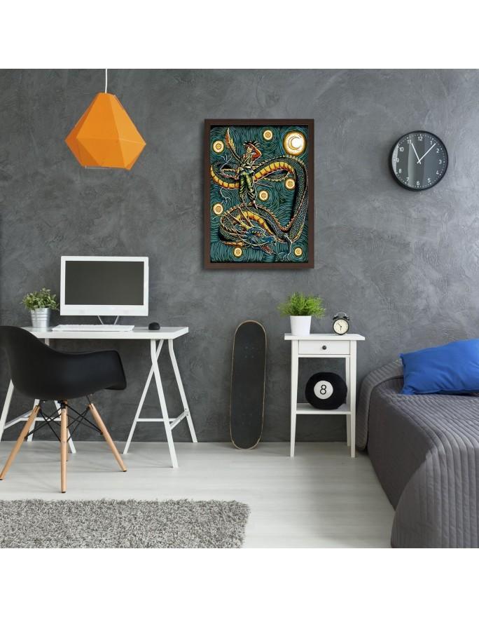 Kawa i torcik, panorama  Deco Panel