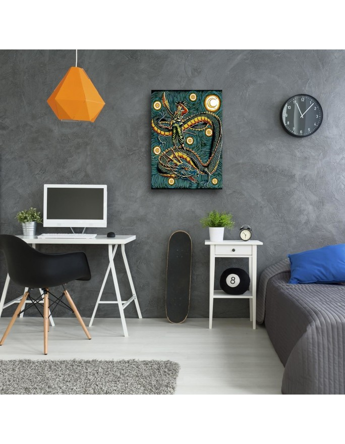 Słoneczniki malowane 2, panorama  Deco Panel
