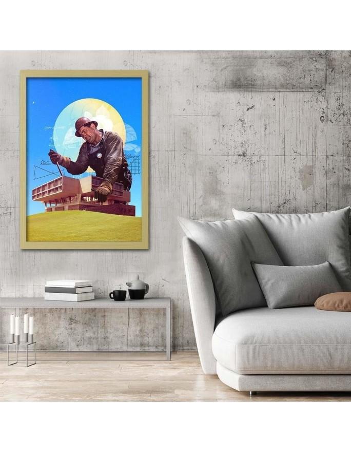 Londyński kolaż 2 R. Kulik, Parawan pokojowy na płótnie - Canvas