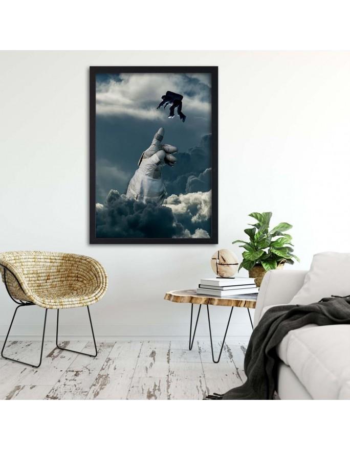 Dwa białe kwiaty, Obraz na płótnie - Canvas