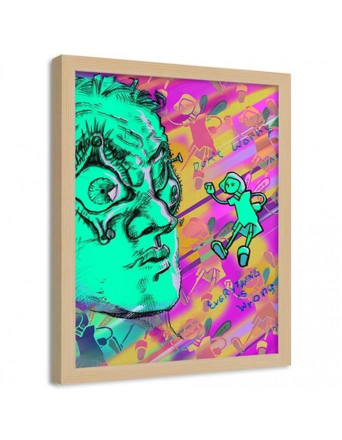 Chłopak na deskorolce, Parawan pokojowy na płótnie - Canvas