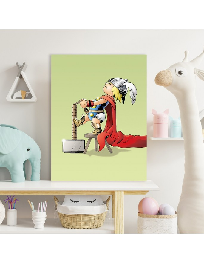 Portret jelenia, Parawan pokojowy na płótnie - Canvas