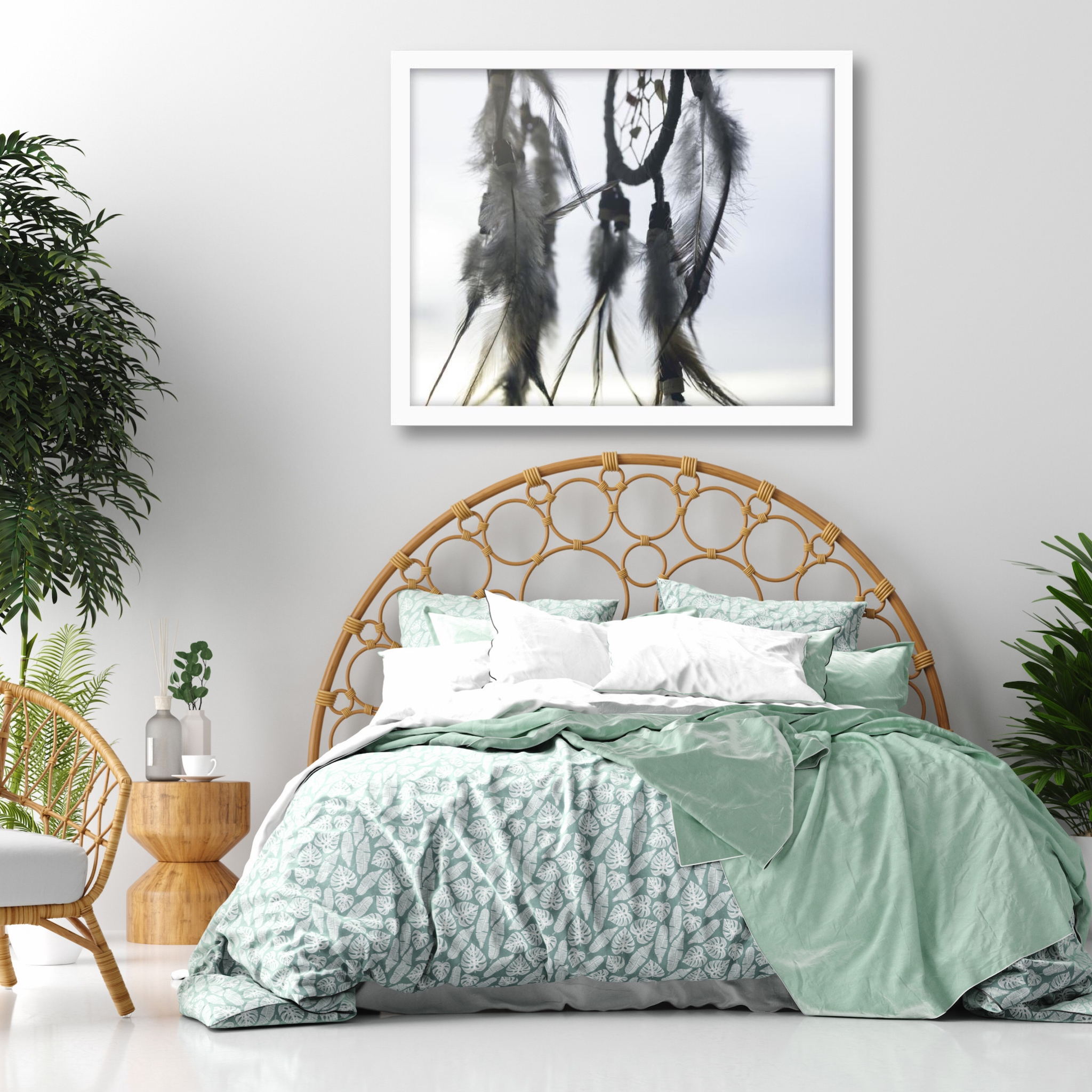 Plakat czarno biały do sypialni